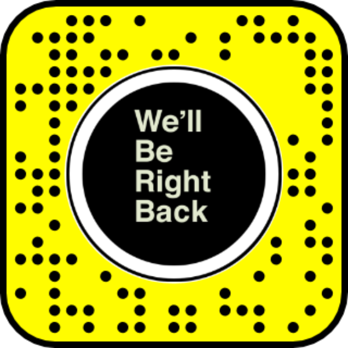 We'll Be Right Back Snapchat Lens (Freeze Frame)