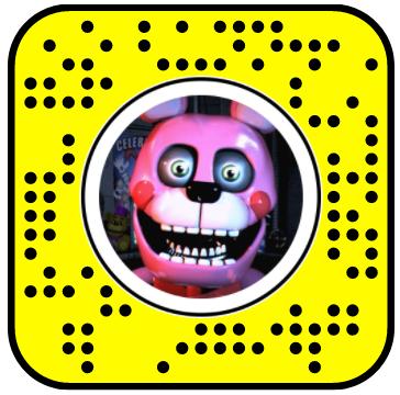 Five Nights of Freddy Bonnet Jumpscare Snapchat Lens