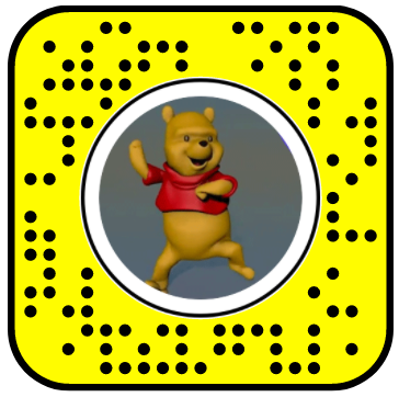 Dancing Winnie the Pooh Snapchat Lens