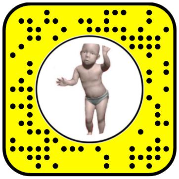 Creepy Dancing Baby Snapchat Lens