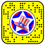 Happy 4th of July Face Lens