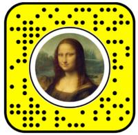 Mona Lisa Snapchat Face Lens